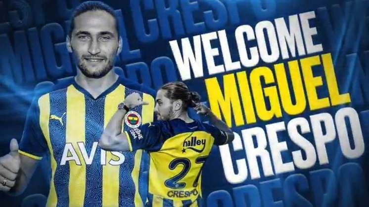 FECHADO - O Fenerbahçe contratou o meio campista Miguel Crespo por três temporadas, podendo ampliar por mais um ano ao final do contrato.