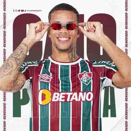 FECHADO - O Fluminense acertou a compra em definitivo do atacante Caio Pualista, estendendo o vínculo do atleta com o clube até 2026.