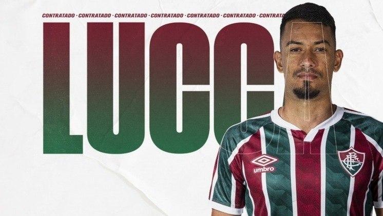 FECHADO - O Fluminense anunciou um novo reforço para o seu setor ofensivo. Trata-se do atacante Lucca, de 30 anos, que estava no Al-Khor, do Qatar. O atleta assinou contrato até o fim de abril de 2022 com o Tricolor das Laranjeiras, vestirá a camisa 7 da equipe, e chegou sem custos.