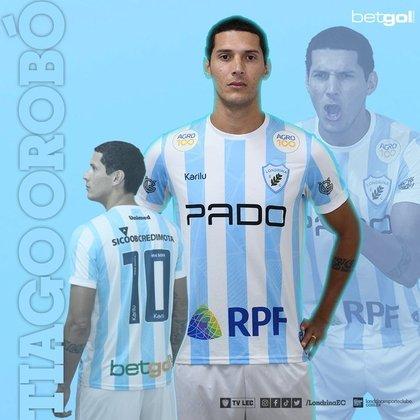FECHADO - O Fortaleza emprestou ao Londrina para 2021 o atacante Tiago Orobó, que fica no clube até o final da atual temporada.