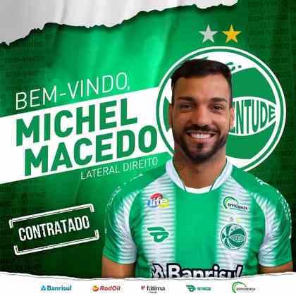 FECHADO - O Juventude anunciou a contratação por empréstimo do lateral direito Michel Macedo, que chega do Corinthians por empréstimo até o final de 2021.