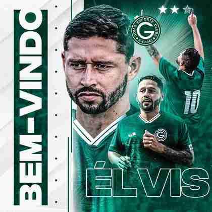 FECHADO - O meia Elvis, ex-Cuiabá, é o mais novo reforço do Goiás para 2021, após concluir a sua transferência para o esmeraldino nesta terça-feira.