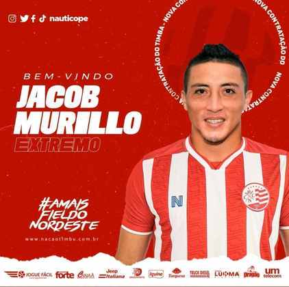 FECHADO - O Náutico anunciou a chegada do atacante Jacob Murillo, que já atuou no Equador e Argentina, e chega ao Timbu para ajudar o elenco na reta final de 2021.
