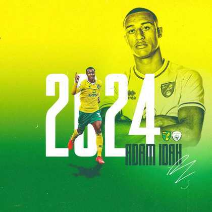 FECHADO - O Norwich também renovou o contrato do atacante Adam Idah até a metade de 2024.