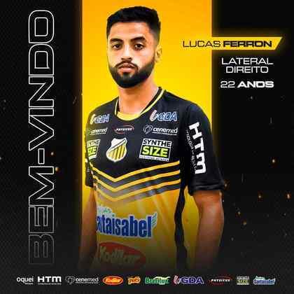 FECHADO - O Novorizontino confirmou a contratação do lateral-direito Lucas Ferron para o restante da Série C 2021. O atleta chega por empréstimo junto ao São Bernardo.