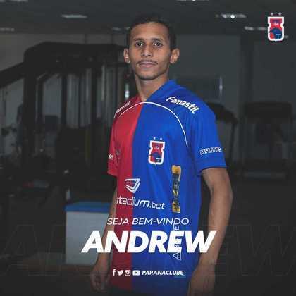 FECHADO - O Paraná acertou a contratação do atacante, Andrew, para o restante da disputa da Série B.