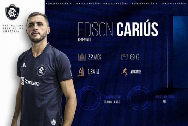 FECHADO - O Remo anunciou a contratação do atacante Edson Cárius por empréstimo até o final de 2021. O atleta defendeu o Fortaleza no último Brasileirão Série A.