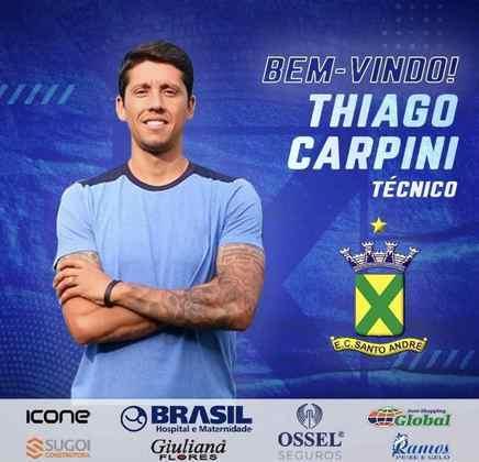 FECHADO - O Santo André anunciou a chegada do técnico Thiago Carpini para o restante de 2021.