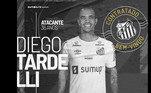 FECHADO - O Santos anunciou a contratação do atacante Diego Tardelli na tarde desta segunda-feira. Aos 36 anos, o jogador assinou o contrato até dezembro deste ano, com opção de renovação até o final do Paulista 2022. Ele já passou por exames médicos e inicia os treinos com o técnico Fernando Diniz.