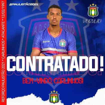 FECHADO - O São Caetano contratou o atacante Carlinhos, revelado pelo Corinthians e que rodou por vários clubes até chegar no Azulão.