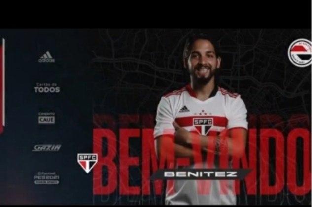 FECHADO - O São Paulo anunciou nesta terça-feira (06), a contratação do meia Martín Benítez. O argentino, que pertence ao Independiente (ARG), chega por empréstimo até o final da temporada.  O Tricolor desembolsou cerca de 300 mil dólares (cerca de R$ 1,6 milhão na cotação atual) pelo jogador, dividido em duas parcelas. Há ainda, um crédito de R$ 300 mil ao Vasco, antigo clube do jogador, que tinha acordo com ele até o meio desta temporada.
