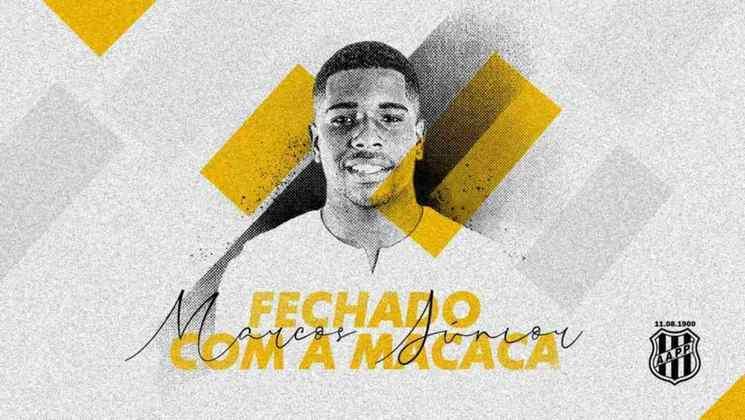 FECHADO - O São Paulo emprestou o volante Marcos Junior para a Ponte Preta até o final de 2021. O jogador chegou em Campinas nesta quinta-feira, passou por exames médicos e assinou o contrato para defender a Macaca nesse período.