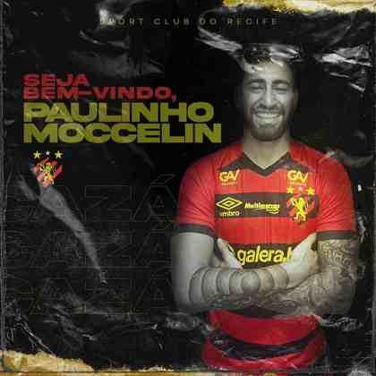 FECHADO - O Sport anunciou a chegada do atacante Paulinho Moccelin, ex-Chapecoense. O atleta chega emprestado pelo Londrina