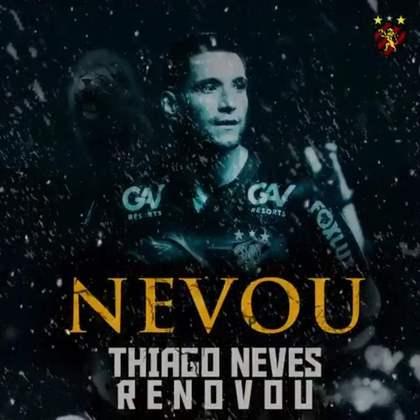 FECHADO - O Sport renovou o contrato de Thiago Neves até o fim de 2021 após bom desempenho no último Brasileirão