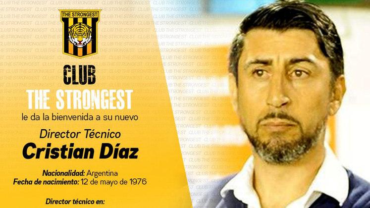 FECHADO - O The Strongest, da Bolívia, anunciou o argentino Cristian Díaz como o novo treinador da equipe.