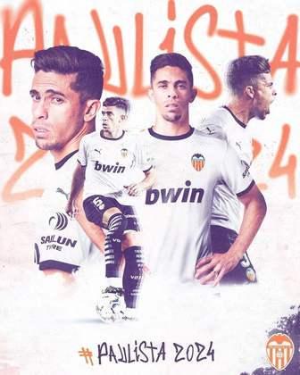 FECHADO – O Valencia anunciou a renovação de contrato com o zagueiro brasileiro Gabriel Paulista até 2024.