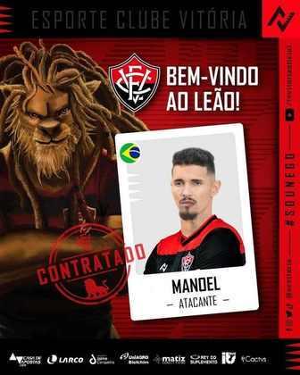 FECHADO - O Vitória oficializou a chegada por empréstimo do atacante Manoel, para ajudar o Leão na reta final da temporada atual.