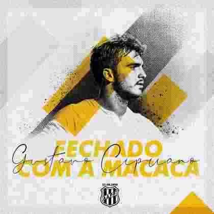 FECHADO - O zagueiro Gustavo Cipriano acertou contrato de um ano com a Ponte Preta nesta quarta-feira (30). O defensor de 20 anos passou pela base do Santos e também atuou por uma temporada na Lazio até chegar em Campinas.