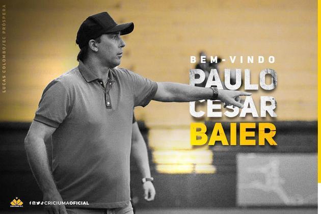 FECHADO - Paulo Baier está de volta ao Criciúma após defender o clube como jogador. O ex-meia chega para ser o novo técnico do Tigre para 2021.