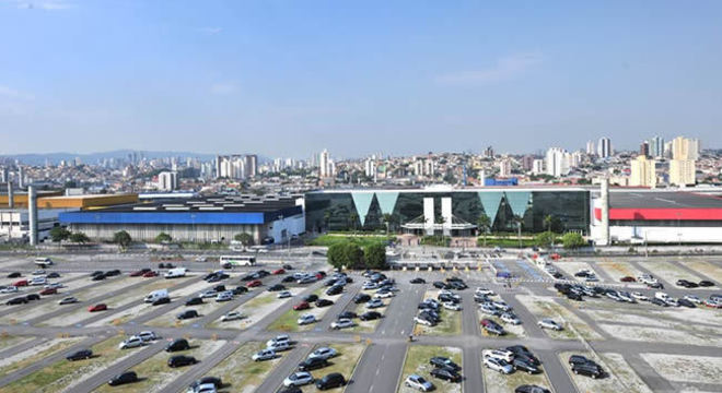 Estacionamento do Expo Center Norte, local do novo Feirão Auto Show a partir do dia 17