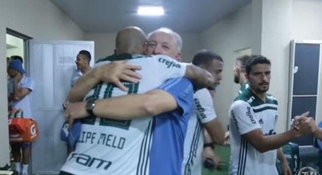Felipão foi fundamental. Segurou Felipe Melo no seu pior momento no Palmeiras