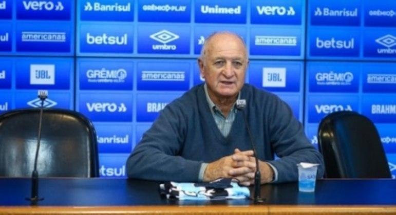 Felipão em seu retorno ao Grêmio