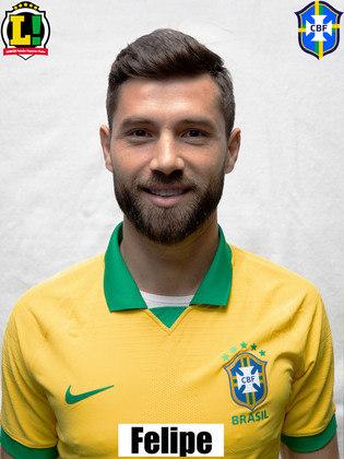Felipe - 6,0: Atuou ao lado de Marquinhos na vaga de Thiago Silva e assim como o camisa 3, não foi exigido enquanto esteve em campo.