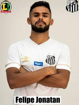 Felipe Jonatan – 5,5 – Muito apagado em campo, pouco se arriscou no ataque e manteve-se mais na parte defensiva do campo.