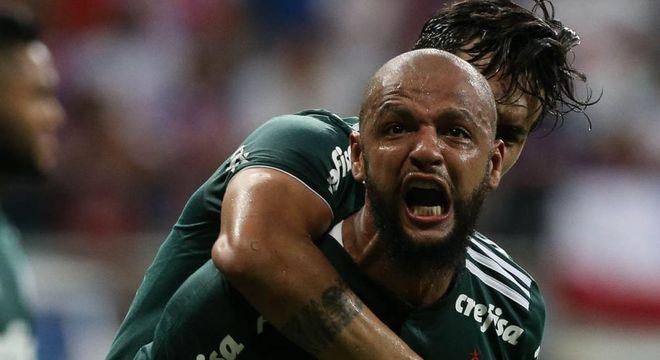 Palmeiras estará sem a vibração de Felipe Melo, contra o Corinthians
