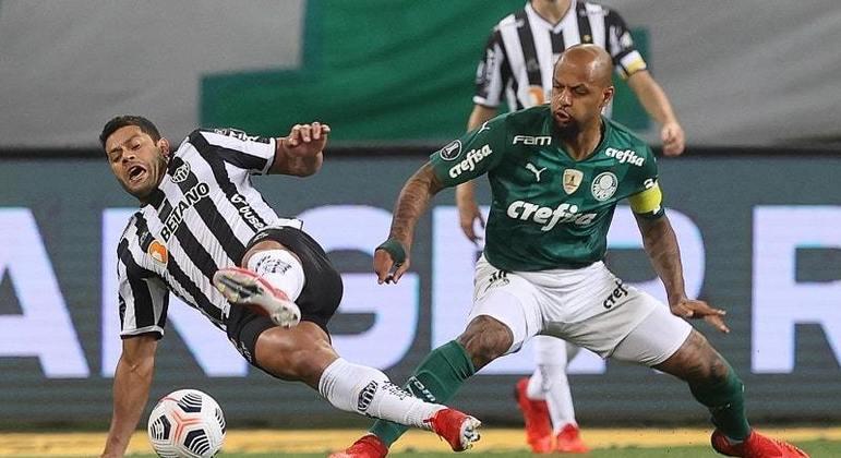 Felipe Melo enfrentou, provocou, fez falta, desestabilizou Hulk. Palmeiras preparado para batalha
