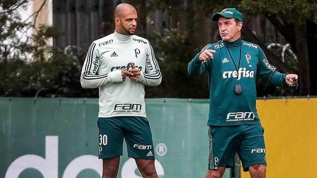 Cuca perdeu briga com Felipe Melo. E acabou demitido do Palmeiras. Hora da vingança