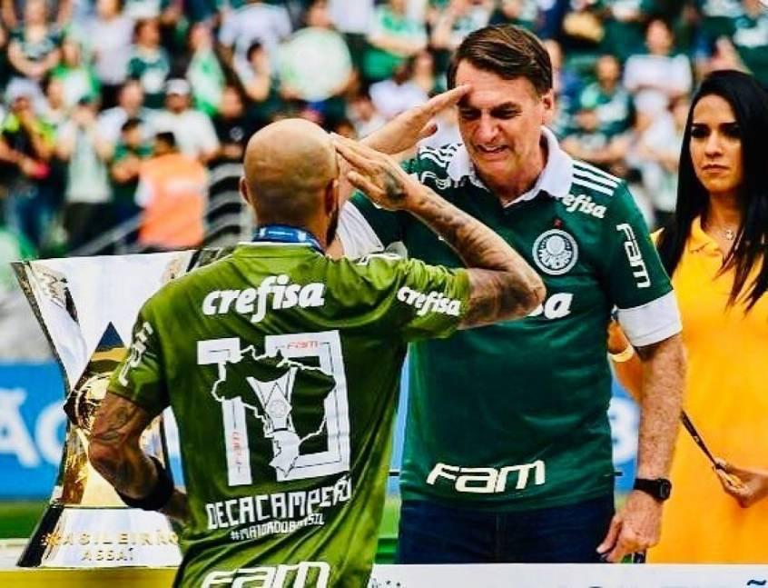 Felipe Melo e Bolsonaro ficaram muito próximos depois da eleição de 2018