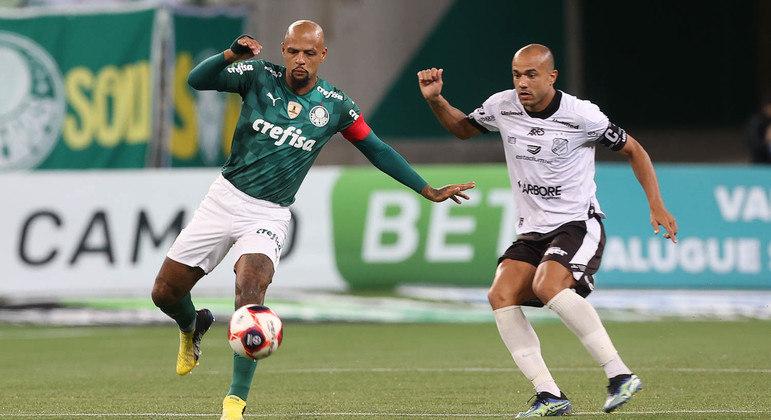 Felipe Melo teve trabalho na marcação de Roger, atacante da Inter de Limeira