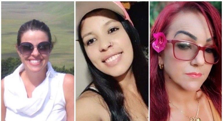 Viviane (à esq.), Thalia e Anna Paula foram três vítimas mortas pelas mãos de maridos violentos