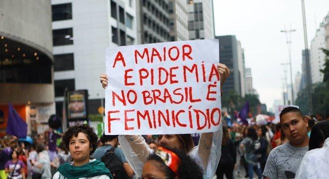 Protesto contra o feminicídio