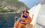 Cristiano Ronaldo está com a namorada Georgina e os filhos em seu barco avaliado em R$ 50 milhões
