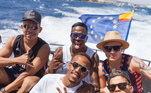 Antes da Itália, o atacante já tinha aproveitado dias de sol com Eder Militão em Ibiza, na Espanha