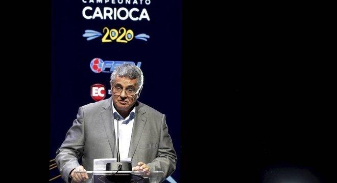 O presidente da Ferj, Rubens Lopes, se manteve neutro na briga Globo e Flamengo