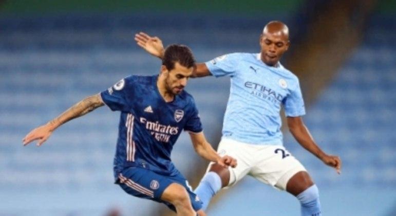 Fernandinho e Ceballos - Manchester City x Arsenal