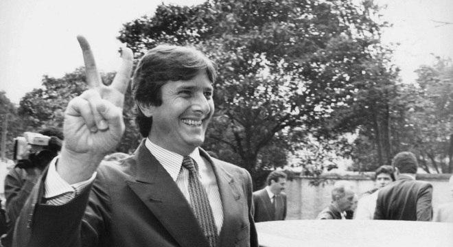 Collor, então candidato à Presidência, durante campanha em 1989