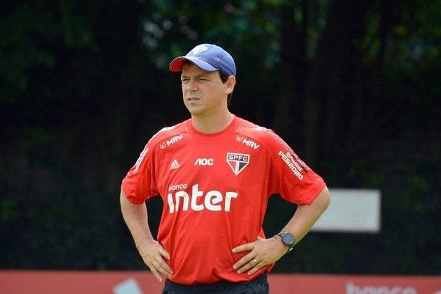 Fernando Diniz (2019-2021) - Diniz foi demitido nesta semana após ficar sete jogos sem vencer e perder a liderança do Brasileirão. Foram 74 jogos, com 34 vitórias, 20 empates e 20 derrotas.