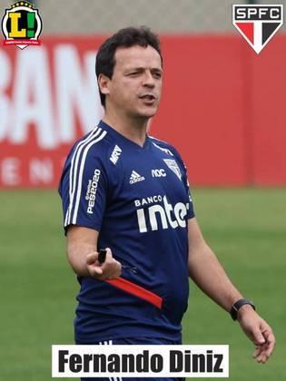 Fernando Diniz - 6,5: Mudou o jogo com a entrada de Luciano no time e vem ganhando cada vez mais confiança, porém o time segue sofrendo muitos gols.