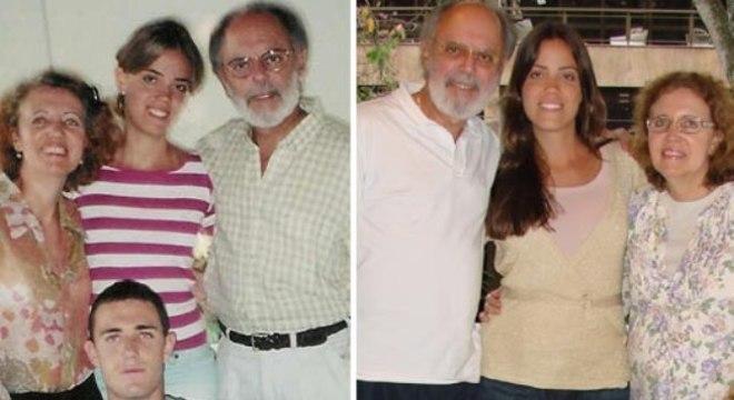 Fernando Diniz com o filho Fabricio (à esquerda), que morreu em um acidente de carro
