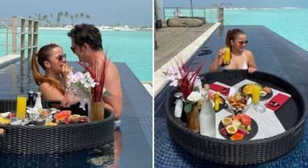 Fernando e Maiara estão nas Maldivas