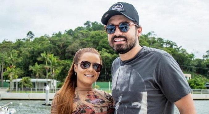 Fernando e Maiara curtiram juntos em Balneário Camboriú, Santa Catarina