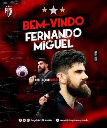 Fernando Miguel -> Saiu para o Atlético-GO por empréstimo até o final do ano.