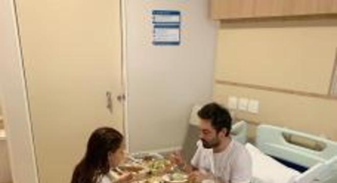 Fernando Zor e Maira no hospital