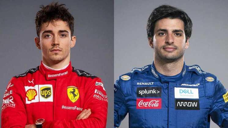 FERRARI - Charles Leclerc está garantido até 2024. Com a saída de Vettel, Carlos Sainz se junta ao time