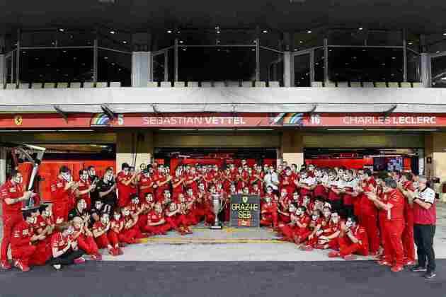 Ferrari fez tributo para Sebastian Vettel.