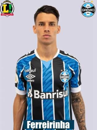 Ferreira - 6,0: Deu um trabalho no lado direito da defesa do Palmeiras. Levou perigo em algumas arrancadas. Teve pouco tempo em campo.